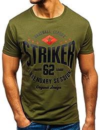 b410ef80c7 BOLF Hombre Camiseta de Manga Corta con Impresión Print Escote Redondo  Estilo Deportivo 3C3
