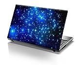 """TaylorHe Skins Pellicola Adesivi per Notebook PC portatili 15,6"""" (38cm x 25,5cm) stelle blu"""