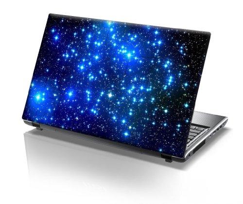 er Skin Vinyl Aufkleber mit bunten Mustern für 15 Zoll 15,6 Zoll (38cm x 25,5cm) Laptop Skin sterne, blau ()