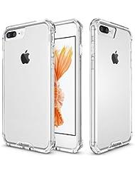Ubcase® Funda iPhone 7 Plus, Ubcase iPhone 7 Plus Funda Carcasa Case Bumper [Shock-Absorción] PC + Silicona Case Cover para iPhone 7 Plus - muchos colores disponibles ( transparent )