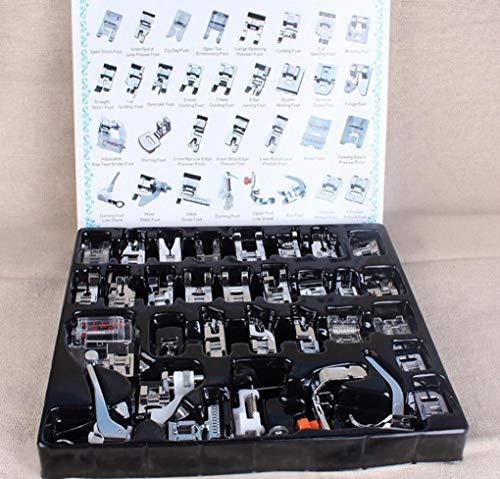 Preisvergleich Produktbild Hycy Multifunktions 32Pcs Presser Nähmaschinen Fuß Füße Snap On Sewing Inländischen Haushalt Sewing Tools Set Box
