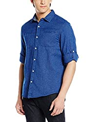 Tommy Hilfiger Mens Casual Shirt (8907504199754_A6CMW0072X_Diamond Blue)