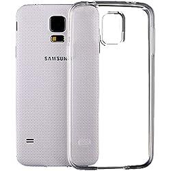 SDTEK Coque pour Samsung Galaxy S5 Housse [Transparente Gel] Silicone Case Cover Crystal Clair Soft Gel TPU