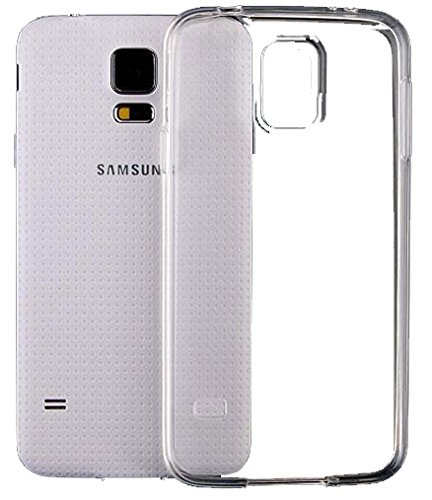 SDTEK Samsung Galaxy S5 Coque Housse Silicone Etui Case Cover Transparent Crystal Clair Soft Gel TPU