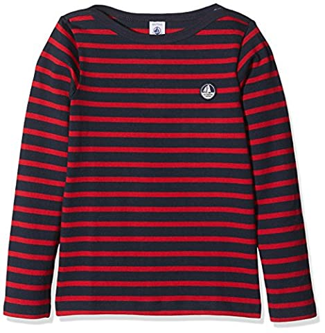 Petit Bateau Boy's Mariniere Long Sleeve Top, Multicoloured (Smoking/Mars), 8 Years (Manufacturer Size:8A 8Ans)
