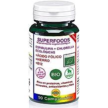 Robis Superfoods Espirulina con Chlorella Bio Vitaminas para Veganos  - 90 Cápsulas