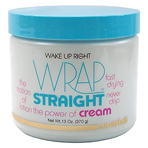 Wake Up Right Wrap Straight Cream 13oz (New Black n Sassy Wrap Cream) by Neutrlab