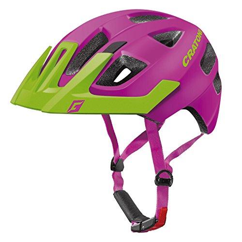 Cratoni Kinder Maxster Pro Fahrradhelm, Pink/Lime Matt, S-M