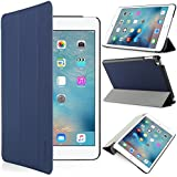 iHarbort® iPad mini 4 Hülle - Premium PU Leder Tasche Hülle Etui Schutzhülle Ständer Smart Cover für iPad mini 4, mit Schlaf / Wach-up-Funktion (iPad mini 4, dunkelblau)