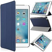 iHarbort® iPad mini 4 Funda - ultra delgado ligero Funda de piel de cuerpo entero smart cover para iPad mini 4, con la función del sueño / despierta (iPad mini 4, azul oscuro)
