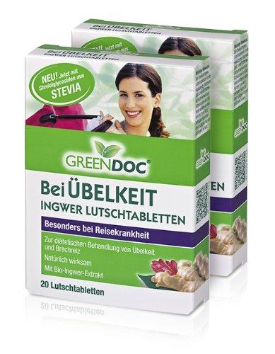 GreenDoc Ingwer Lutschtabletten 2x 20 Tabletten