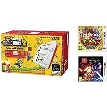 Consola Nintendo 2DS Roja + New Super Mario Bros 2 + Yo-Kai Watch 2: Carnánimas + LEGO Star Wars: El Despertar De La Fuerza