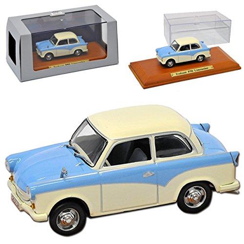 Atlas Trabant P50 500 Limousine Blau Cream 1958-1962 DDR 1/43 Modell Auto mit individiuellem Wunschkennzeichen