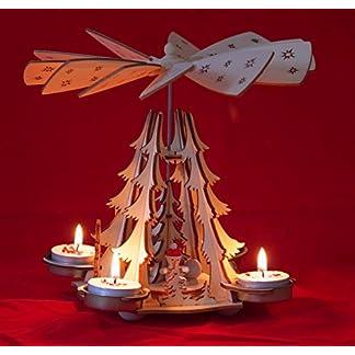 Wichtelstube-Kollektion Pirámide de Navidad con Velas de té, para niños de Invierno, pirámide de Navidad