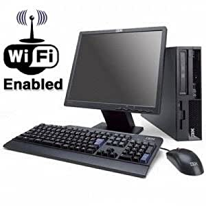 WiFi Enabled IBM Desktop Computer, 17-inch LCD Screen, Keyboard, Mouse, Intel Pentium 4, Windows XP Professional