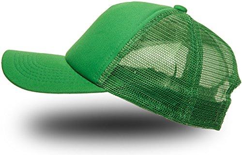 Trucker Cap Mütze Classic Happy für Herren und Damen, One Size Snapback (Green)