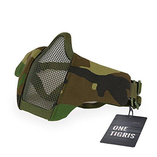 OneTigris Faltbare halbe Gesichtsschutz Maske Mesh Maske für Softair Paintball CS (WL)