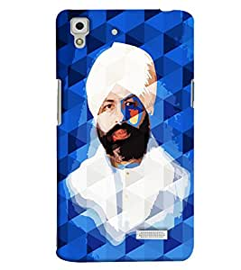 Clarks Shri Nirankari Baba Hard Plastic Printed Back Cover/Case For Oppo R7