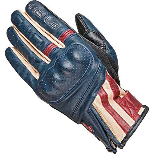 Held Motorradschutzhandschuhe, Motorradhandschuhe kurz Paxton Handschuh blau/beige/burgund 9, Herren, Chopper/Cruiser, Sommer, Leder