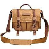 CADEN Lienzo Camear inserto acolchado a hombro bolso Messenger Bag para cámara digital DSLR SLR