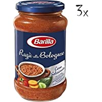 3x Barilla Ragù alla Bolognese Tomato Sauce with Pork for Pasta 400g Ready to Eat!