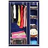 Favy WARDROBE Closet || PREMIUM PERFECT EASY CARE ALMIRAH || Portable And Collapsible Wardrobe || Metal Frame || 6 Racks Closet || High Capacity Up To 70Kgs || Color May Vary || W-001