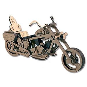 Keranova Junior- Kit de Madera Moto Custom pequeña, Color marrón (5506)