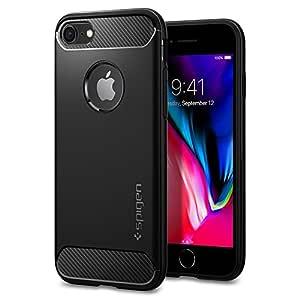 Spigen Rugged Armor Back Cover Case Designed for iPhone 8 / iPhone 7 - Black