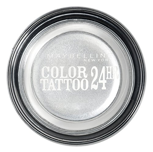 Maybelline New York Color Tattoo Gel-Cream Lidschatten 50 Silver, 4.5 g (Lidschatten Tattoo)
