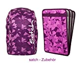 satch by ergobag 2er Set Zubehör Tripleflex Heftebox & Regencape Purple