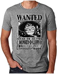 35mm - Camiseta Hombre Monkey D Luffy Wanted- One Piece c846e025d36
