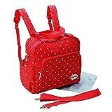 GMMHL 2 tlg Baby Rucksack Wickeltasche Pflegetasche Windeltasche Babytasche Reise Farbauswahl (rot)