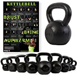 Kettlebell ghisa 4 kg, 6 kg, 8 kg, 10 kg, 12 kg, 14 kg, 16 kg, 18 kg, 20 kg - Ideale per il functional training ed il potenziamento muscolare (14 kg)