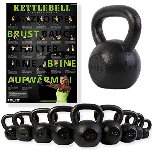Kettlebell ghisa 4 kg, 6 kg, 8 kg, 10 kg, 12 kg, 14 kg,...