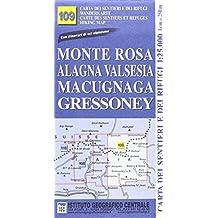 IGC Italien 1 : 25 000 Wanderkarte 109 Monte Rosa