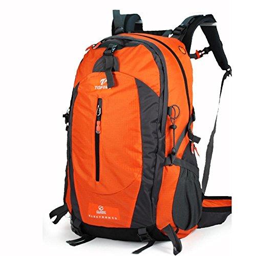 ALUK-Outdoor-wasserdichte Wander Schultern Bergsteigen Rucksack Tasche Sporttasche Orange