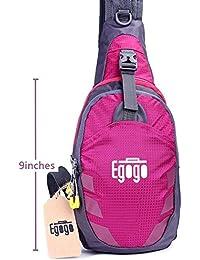 EGOGO Multifuncional 3 capas Mochila de Hombro Bolsas Senderismo Ciclismo Deportes Escolar Mochila Sling Bolso para Hombres y Mujeres T821 (Rosa)