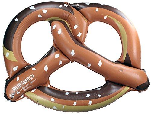 Bavariashop Mei XXL-Badebrezn, Schwimmbreze, Bayerische Luftmatratze in Brezenform, neues Design, Größe 150 cm x 110 cm, Farbe Braun,