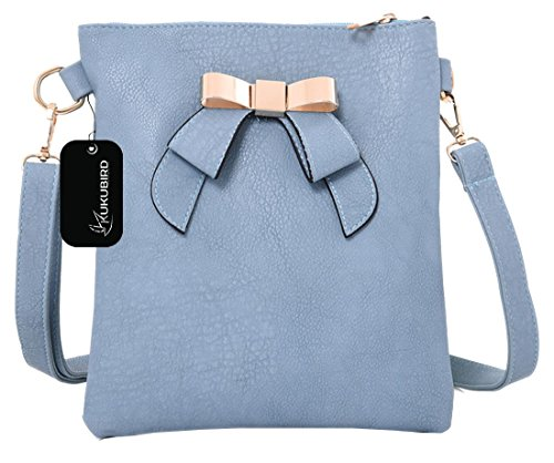 Kukubird Joan Crossbody Bag borsa Casual tutti i giorni con sacchetto raccoglipolvere Kukubird Light Blue