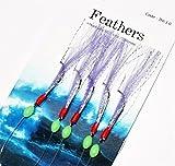 White Lightning Mackerel Fishing Feathers