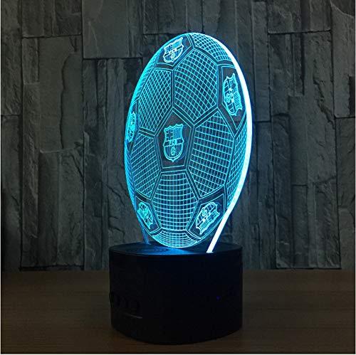 Veilleuse 3D LED Haut-Parleur Bluetooth New Soccer Lights Télécommande Colorée Lights Creative Products Gift Nightlight Tfcard