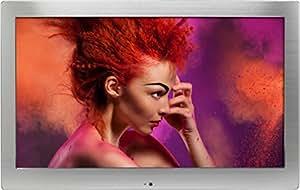 """Rollei Pissarro DPF-131 Full HD - Digitaler Bilderrahmen mit 13,3"""" (33,78 cm) TFT-LCD, 4 GB interner Speicher, inkl. IR-Fernbedienung - Silber"""