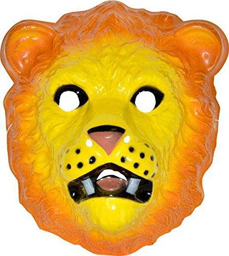 Maske, Löwe, mittelgroß, starrer Kunststoff (Lion Kunststoff Maske)