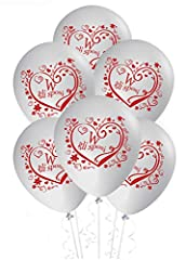 Idea Regalo - ocballoons Palloncini Matrimonio sposi Decorazioni addobbi Festa Gas Elio Party Wedding 20pz