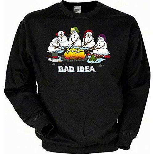 Weihnachten Sweatshirt, Motiv: Schlechte Idee Gr XXL (Fb schwarz) (Schlechte Weihnachten Pullover)