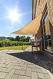 Outent® Sonnensegel 3,6 x 3,6 x 3,6m wasserabweisend Sonnenschutz UV-Schutz beige - 3