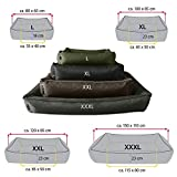 BedDog Hundebett MAX L bis XXXL, 10 Farben wählbar, Hundekissen Hundesofa Hundekorb,schwarz L ca. 80×65 cm - 3