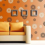 Gallerist DIY Wall Painting Stencil: Royal Custom Design Wall Stencils for Wall Painting, 2 Stencils (Size 12x12,6x6 inches)