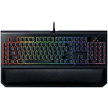 f6d78fddc18 Razer BlackWidow Chroma V2, Tactile and Clicky Mechanical Gaming Keyboard ( Razer Green Switches, Ergonomic Hand Wrist Rest, RGB Chroma Lighting, ...