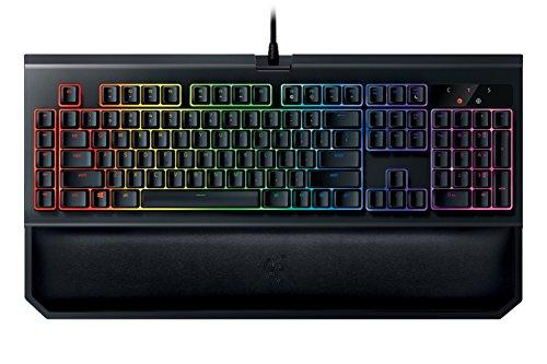 Razer BlackWidow Chroma V2, Tactile and Clicky Mechanical Gaming Keyboard (Razer Green Switches, Ergonomic Hand Wrist Rest, RGB Chroma Lighting, Programmable, 5 Macro Keys, UK Layout)